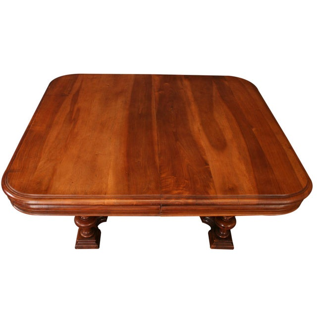 Antique French Henry II Walnut Pub Coffee Table - Image 4 of 7