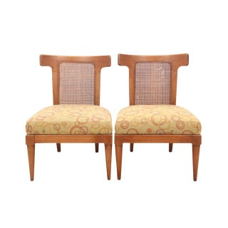American of Martinsville Cane Back Chairs - A Pair