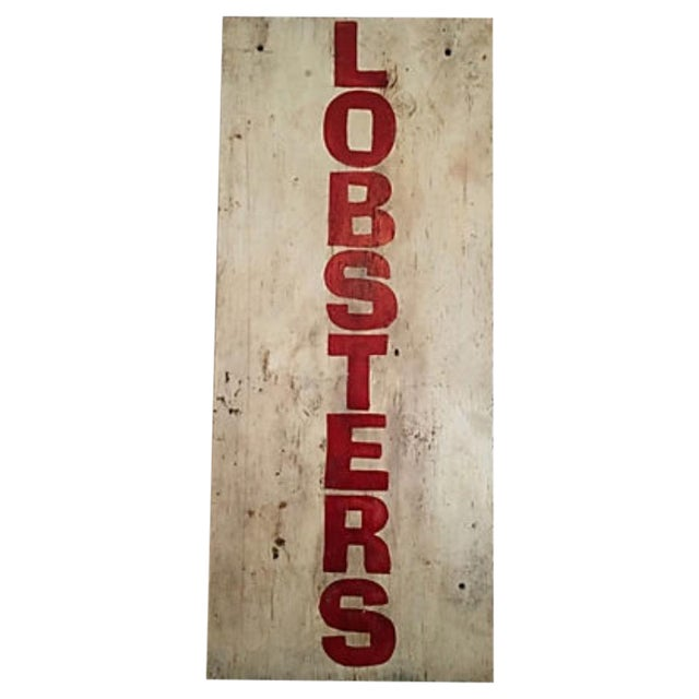 Image of Painted Maine Lobster Stand Sign