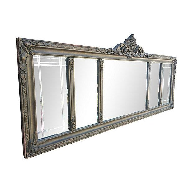 Antique Carved Wood Mantel Mirror - Image 4 of 7