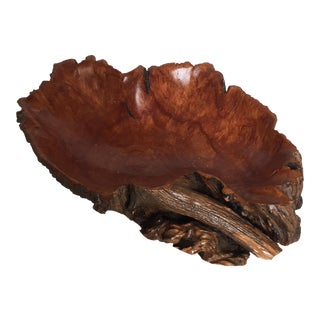 Handmade Wood Burl Bowl