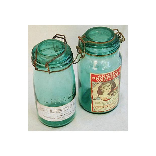 Early 1900s French Preserve Canning Jars - Pair - Image 3 of 6