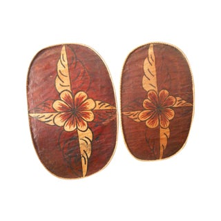 Floral Moroccan Wall Hangings - A Pair