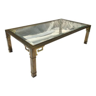 1970s Vintage Mastercraft Regency Style Brass Coffee Table