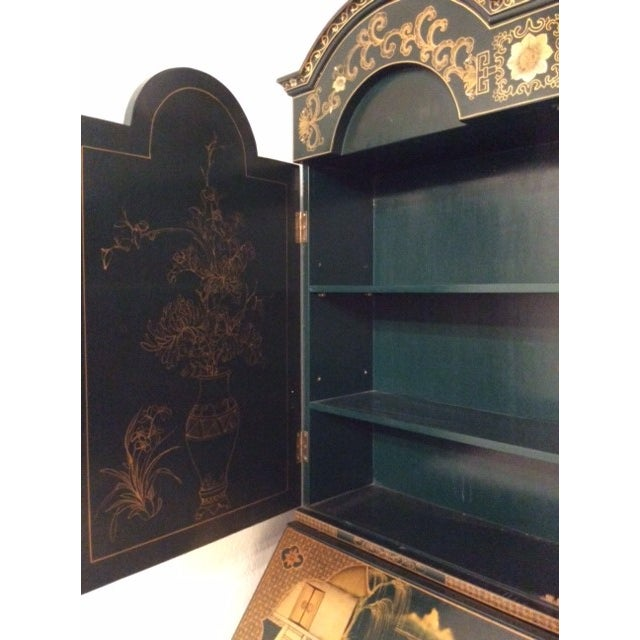 Vintage Chinoiserie Chippendale Secretary - Image 11 of 11