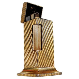 "Dunhill Goldtone ""Rollalite"" Table Lighter"
