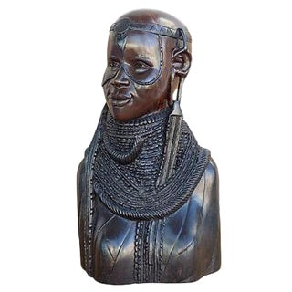African Solid Ebony Carved Sculpture