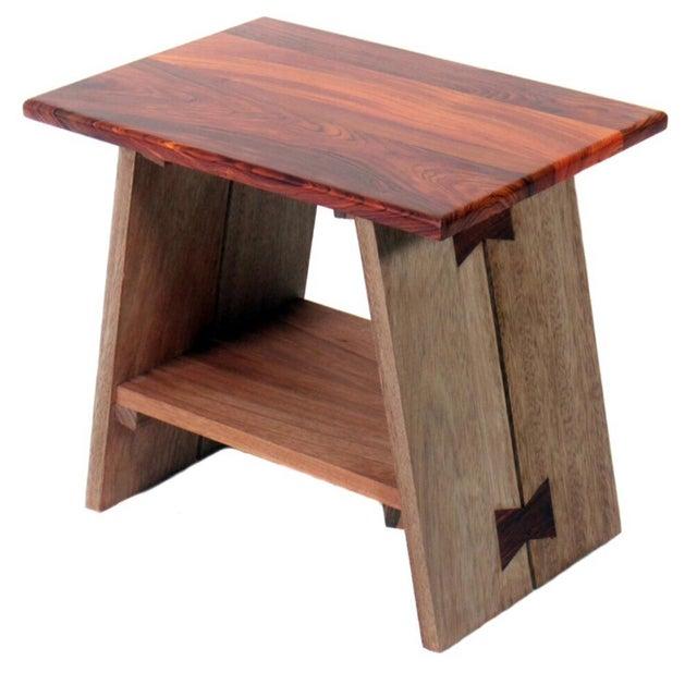 Chi Exotic Wood Stool - Image 6 of 6