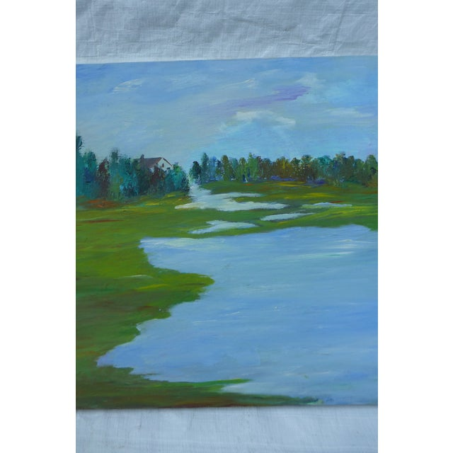 H.L. Musgrave MCM Painting of Flowing River - Image 4 of 6