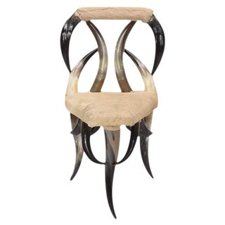 Vintage Steer Horn Chair