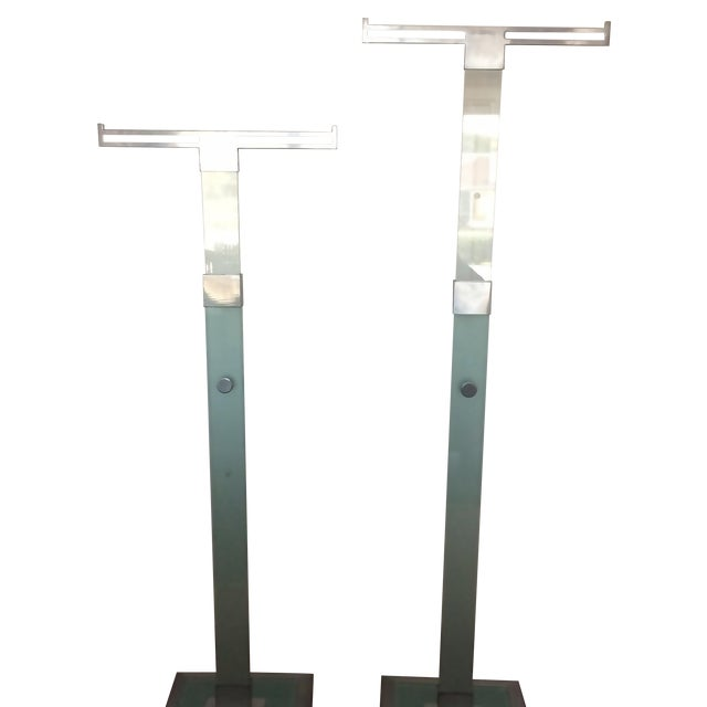 Vintage High End Glass Chrome Valet - Image 1 of 7
