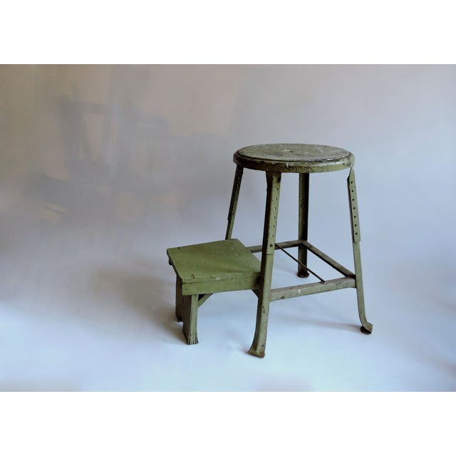 Industrial Sage Green Step Stool - Image 2 of 6