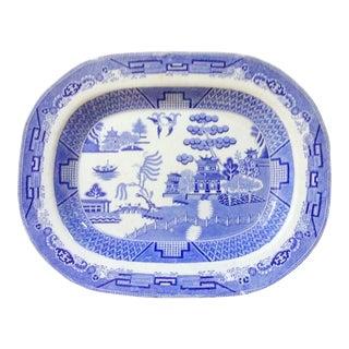 English Chinoiserie Blue & White Platter