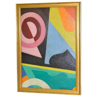 Wright Antique 1930s Abstract Painting