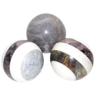 Italian Marble Balls - Set of 3