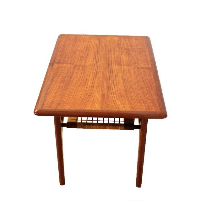Vintage Danish Teak & Cane Accent Tables - A Pair - Image 3 of 5