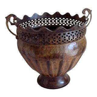 Rustic Metal Plant Pot