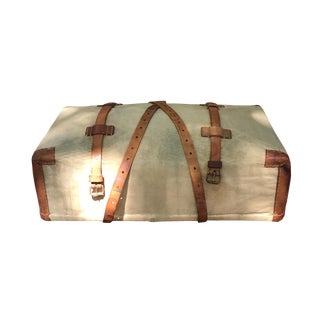 Canvas and Wicker Case/Luggage