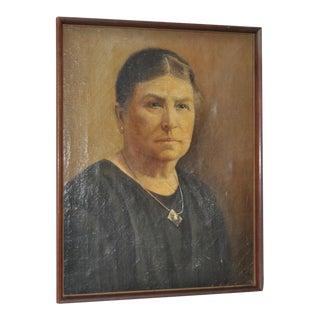 Vintage Oil Portrait of a Woman
