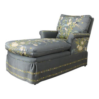 Vintage 1940's Newly Upholstered Double Armed Chaise Lounge