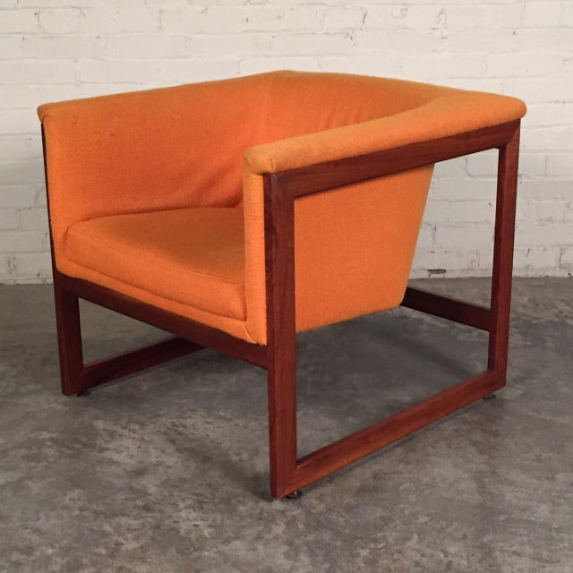 Milo Baughman Mid-Century Modern Floating Cube Chairs - A Pair - Image 2 of 10