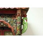 Image of Teak Wood Hand Painted Pooja Mandir - Home Temple Mandapam