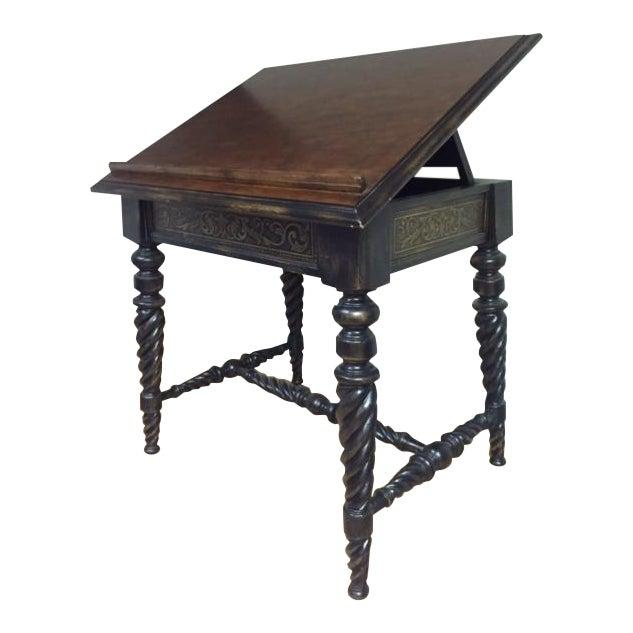 Book Display Table With Barley Twist Legs Chairish