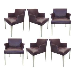 B&B Italia Leather Armchairs-Set of 6