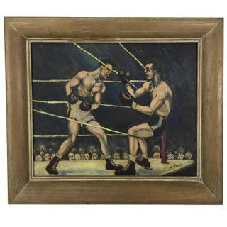 "Art Deco ""Boxers"" Painting"