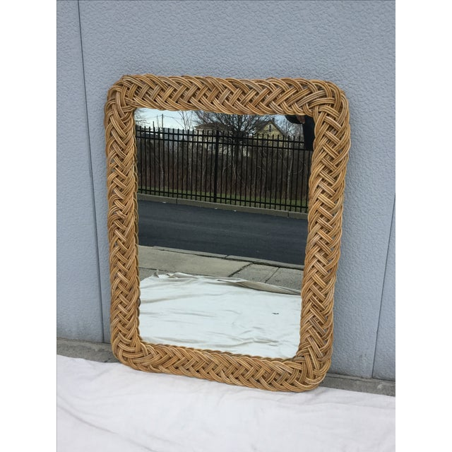 Image of 1960's Modern Rattan Mirror
