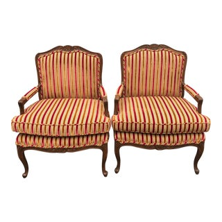 Baker Bergere Chairs - A Pair