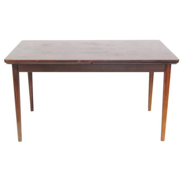 danish modern rosewood dining table chairish