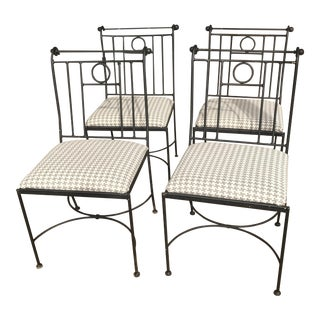 Indoor/Outdoor Black Iron Dining Chairs - Set of 4