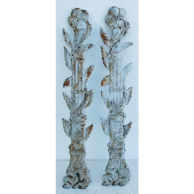 19th C. French Architectural Iron Details - Pair - Image 7 of 11