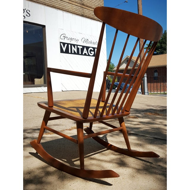 Mid-Century Modern Spindle Rocking Chair - Image 4 of 11