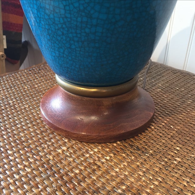 Frederick Cooper Cerulean Blue Crackle Lamp - Image 4 of 11