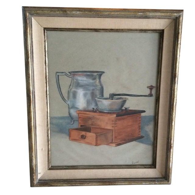 Vintage Original Pastel Still Life - Image 1 of 7