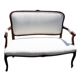Antique White French Settee