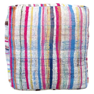 Pink Striped Moroccan Floor Pillow