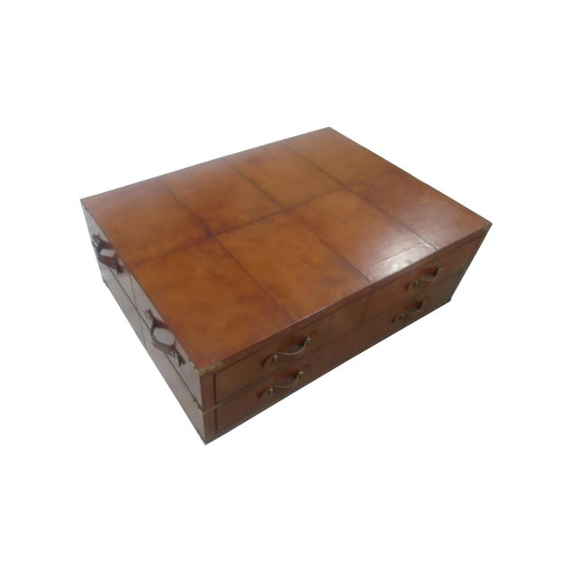 Rectangular Leather Storage Coffee Table Chairish