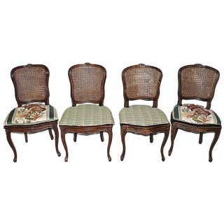 French Country Caned Chairs - Set of 4