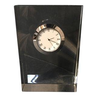 Clear Crystal Shelf Clock
