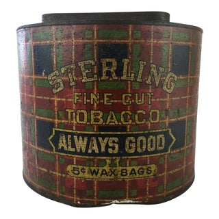 General Store Sterling Tobacco Tin c.1910