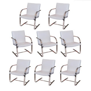 Roche Bobois Brno Style Dining Chairs - Set of 8
