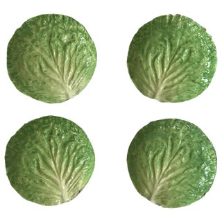 Italian Cabbage Form Plates - Set of 4