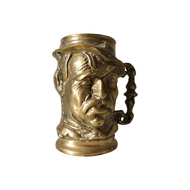 Old Man Solid Brass Mug - Image 2 of 3