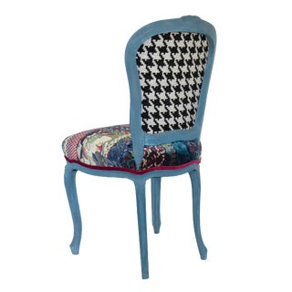 Bohemian Style Vintage Upholstered Louis French Chair