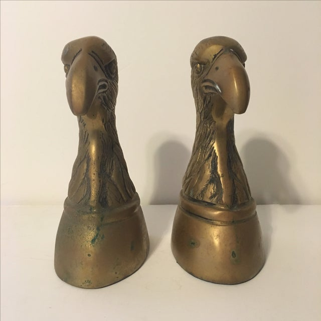 Image of Brass Eagle Bookends - A Pair