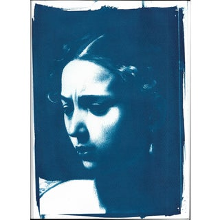Limited Serie Cyanotype Print of Judith (Detail) Painted by Caravaggio