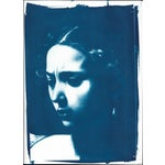 Image of Judith Face Cyanotype Print by Caravaggio